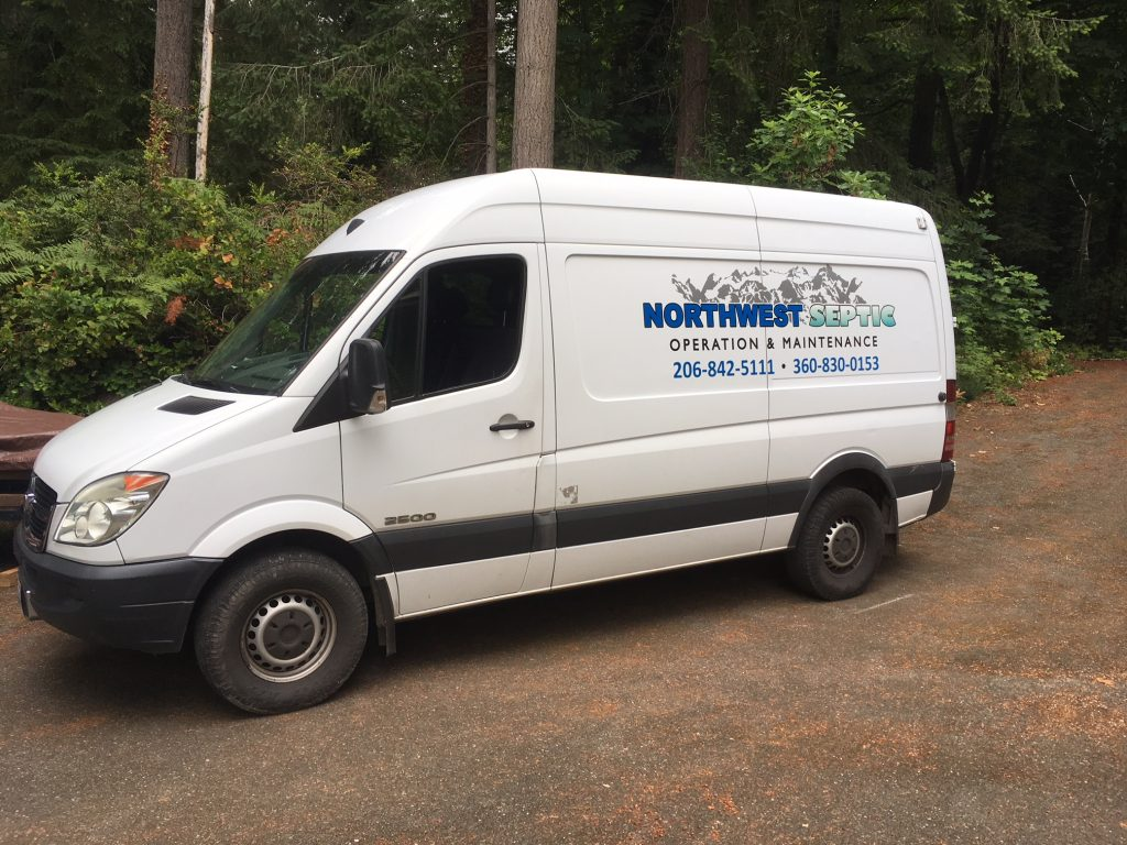NorthWest Septic Service Van